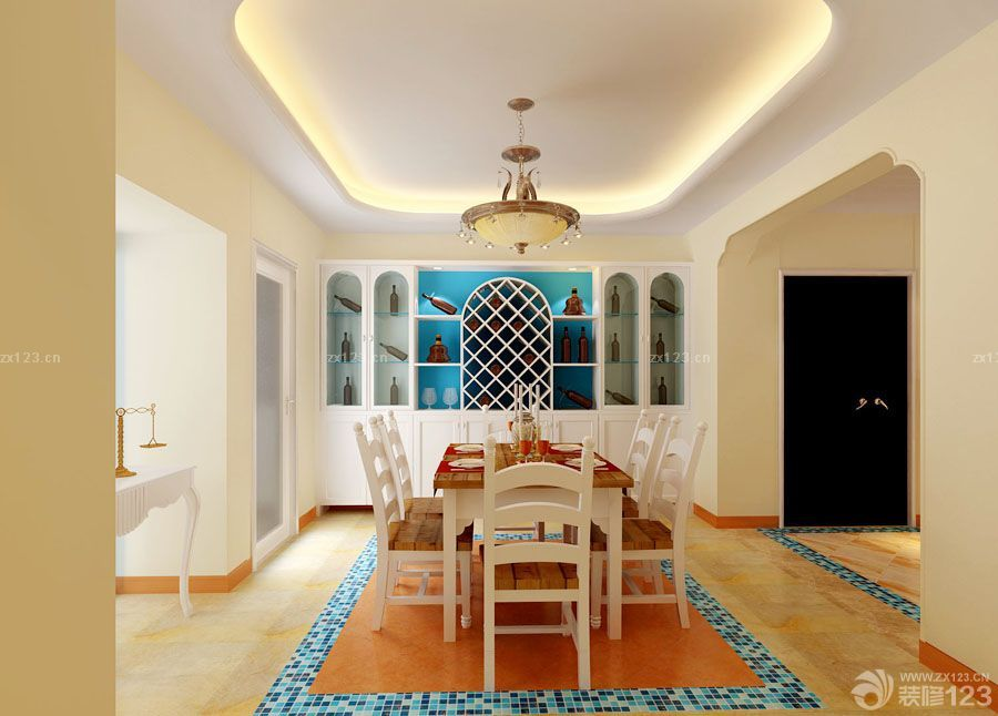 100平方房子小餐厅装修效果图片