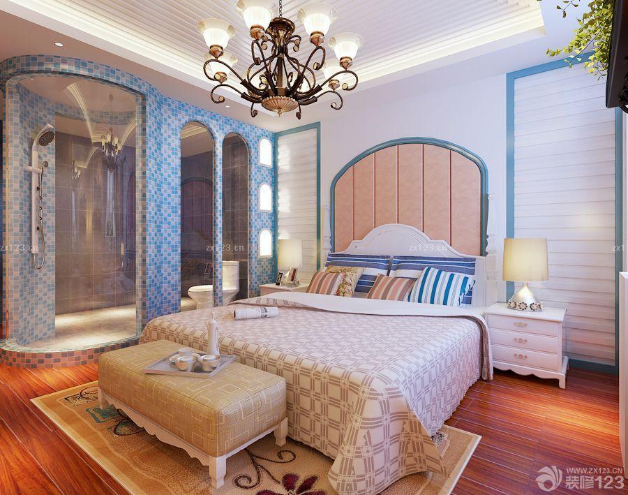 欧式100平方房子床头背景墙装修效果图