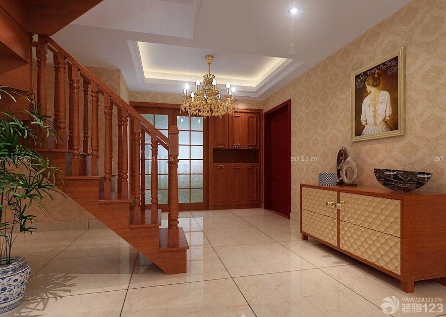 140平米跃层木楼梯扶手装修效果图
