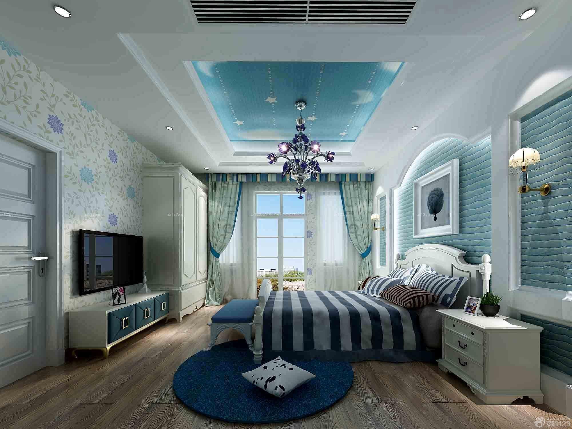 地中海风格120平米房子装修设计效果图图片
