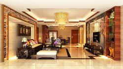 新中式客廳博古架裝修效果圖片