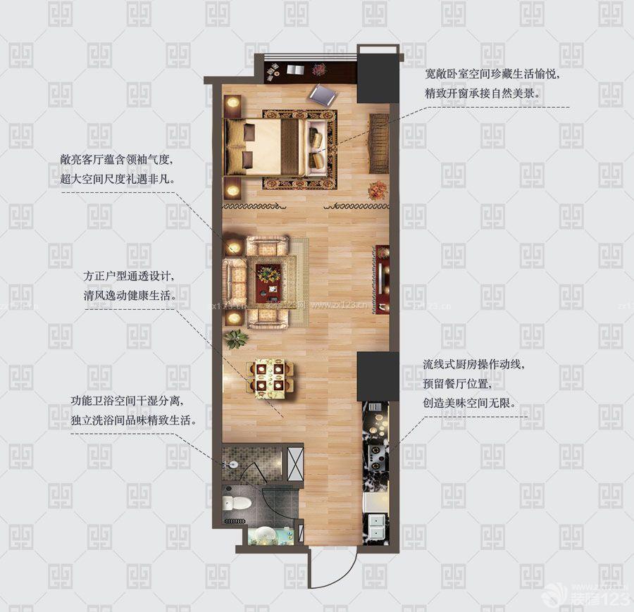 农村平房60平米小户型设计图纸