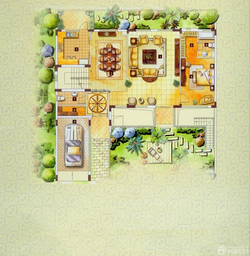 110平米一层别墅户型图