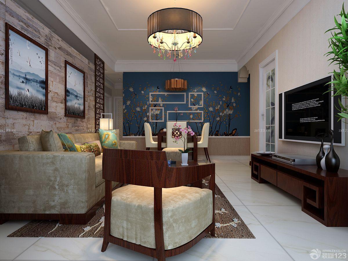 新中式客厅电视柜设计图案例