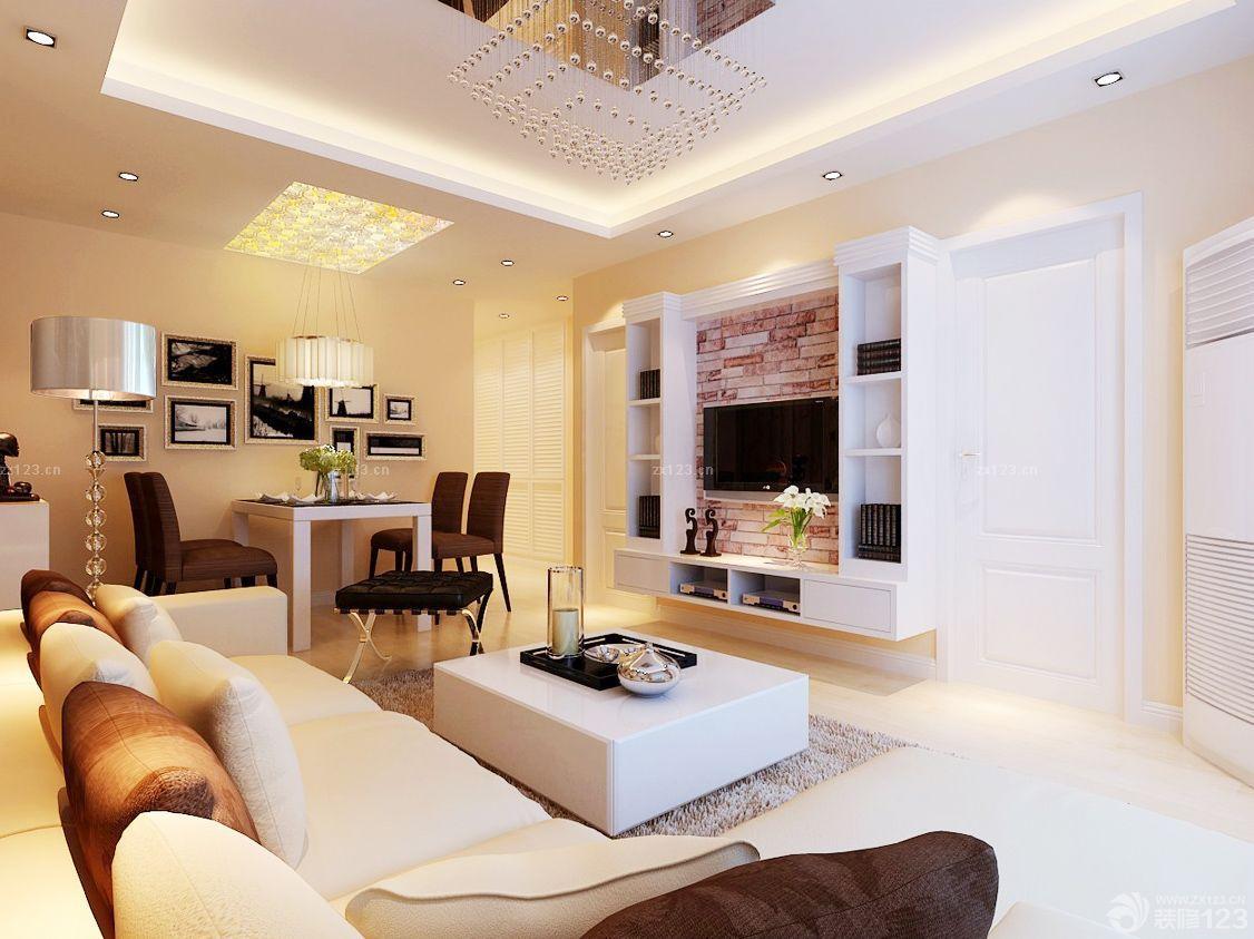 5万装修70平米客厅白色门装修效果图片