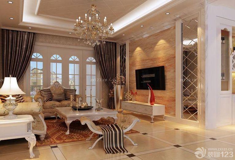 房子装修欧式风格艺术玻璃背景墙图片图片