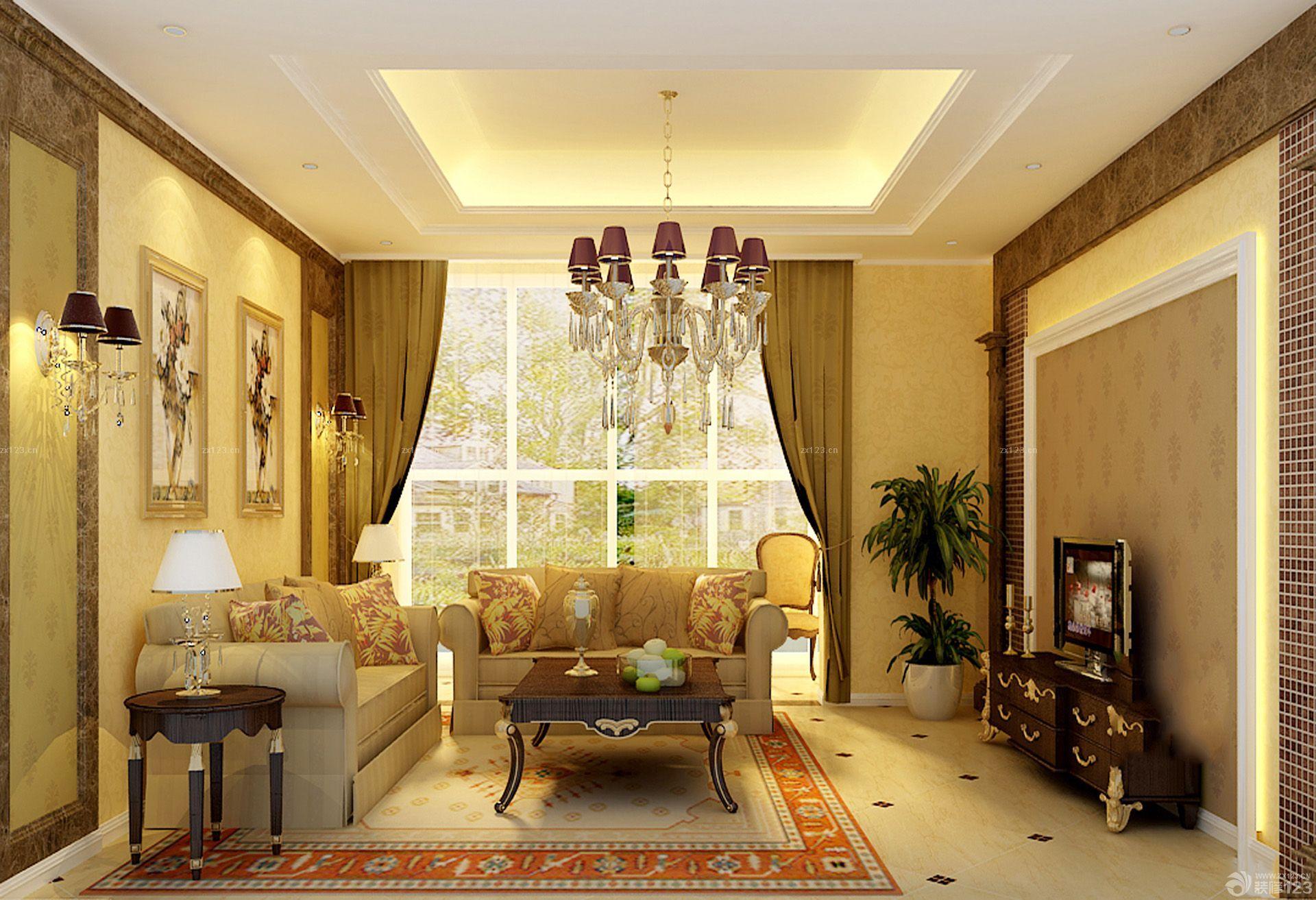 80平米别墅客厅墙面装饰设计图