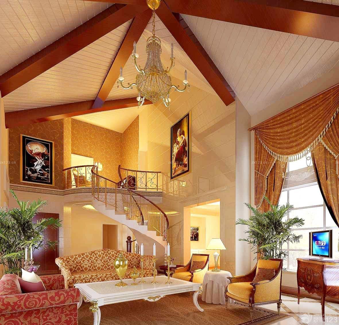 80平米别墅小复式楼装修设计图图片