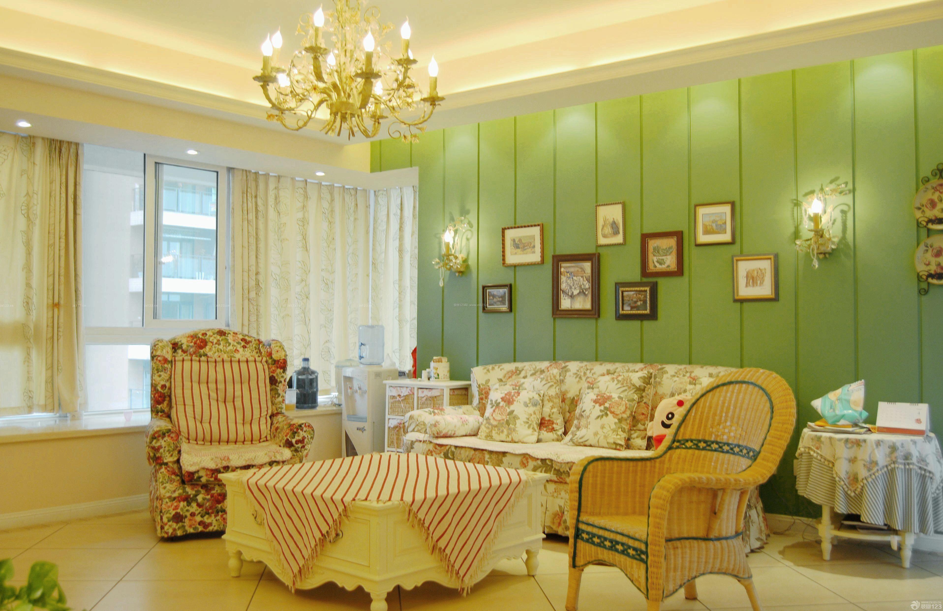 美式田园风格80平米两室一厅小户型装修效果图