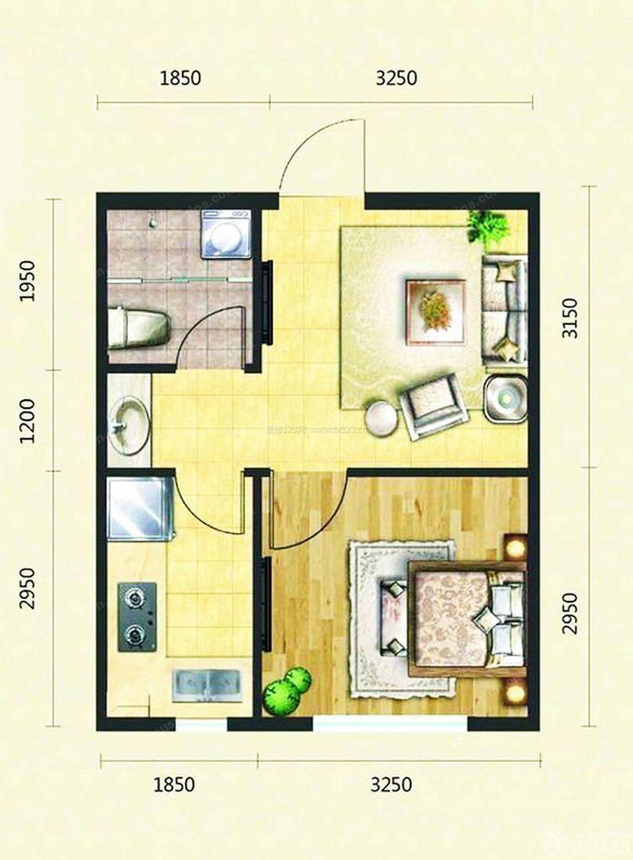 乡村房子60平米小户型设计图