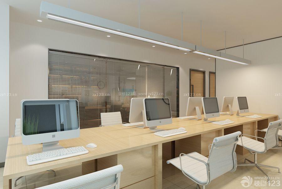 现代100平米办公室桌椅装修效果图