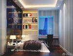 2015现代100平方米房子床头背景墙装修效果图片