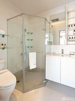 90平新房衛生間玻璃淋浴間裝修效果圖片