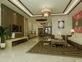 90平新房裝修效果圖片 新中式風格客廳圖片