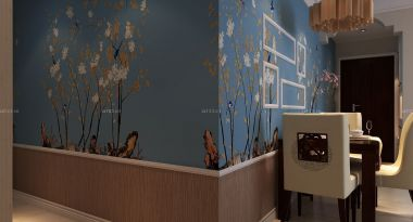 家装墙面护墙板装修效果图