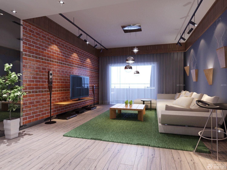 温馨美式风格130平米房子电视背景墙效果图片