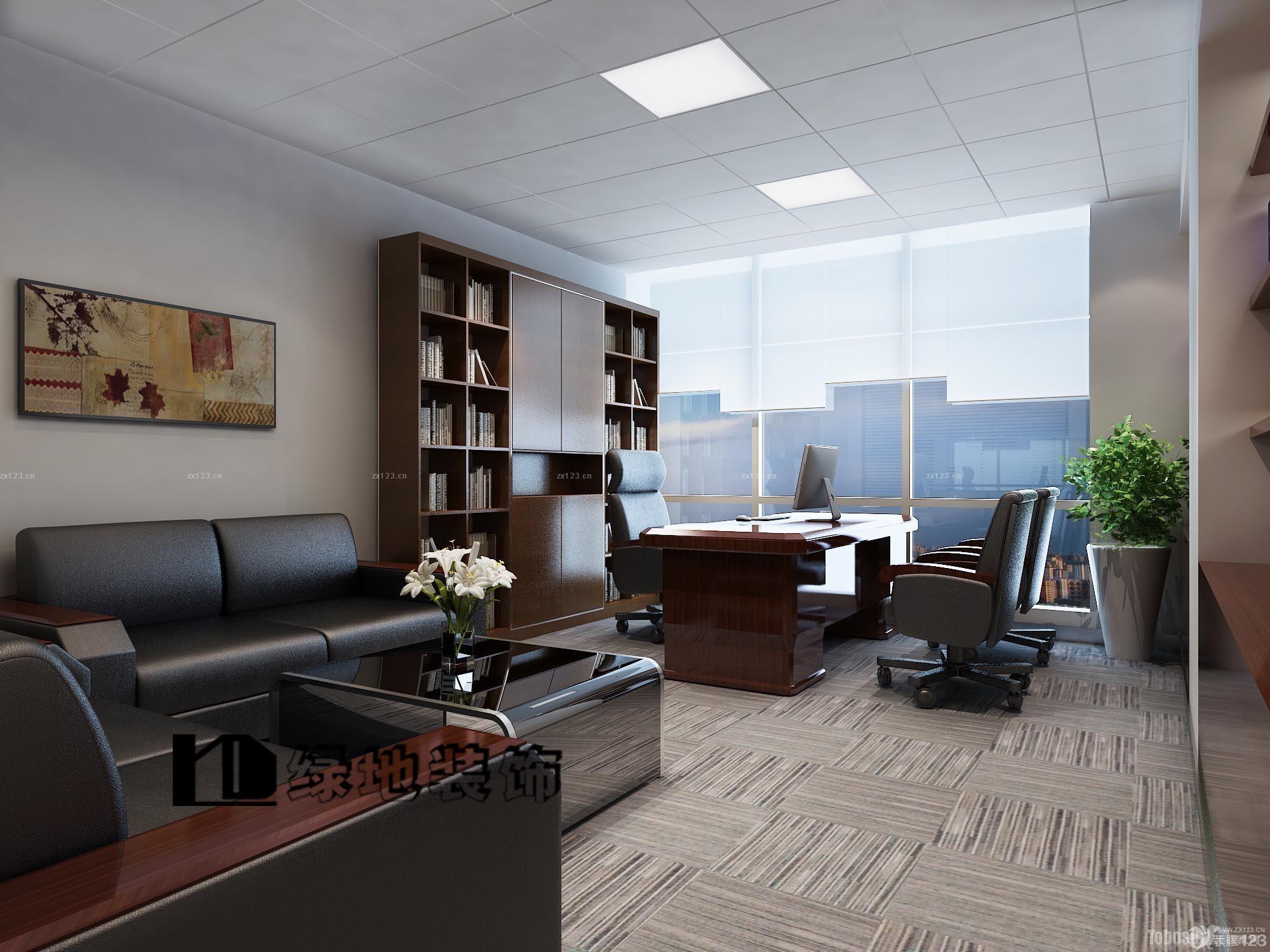 80平米办公室铝扣板集成吊顶装修效果图