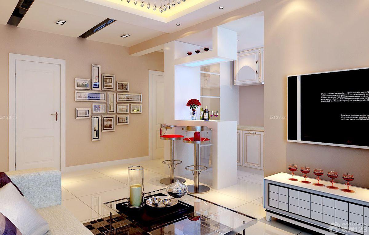 时尚精美60平方两室一厅照片墙设计装修效果图