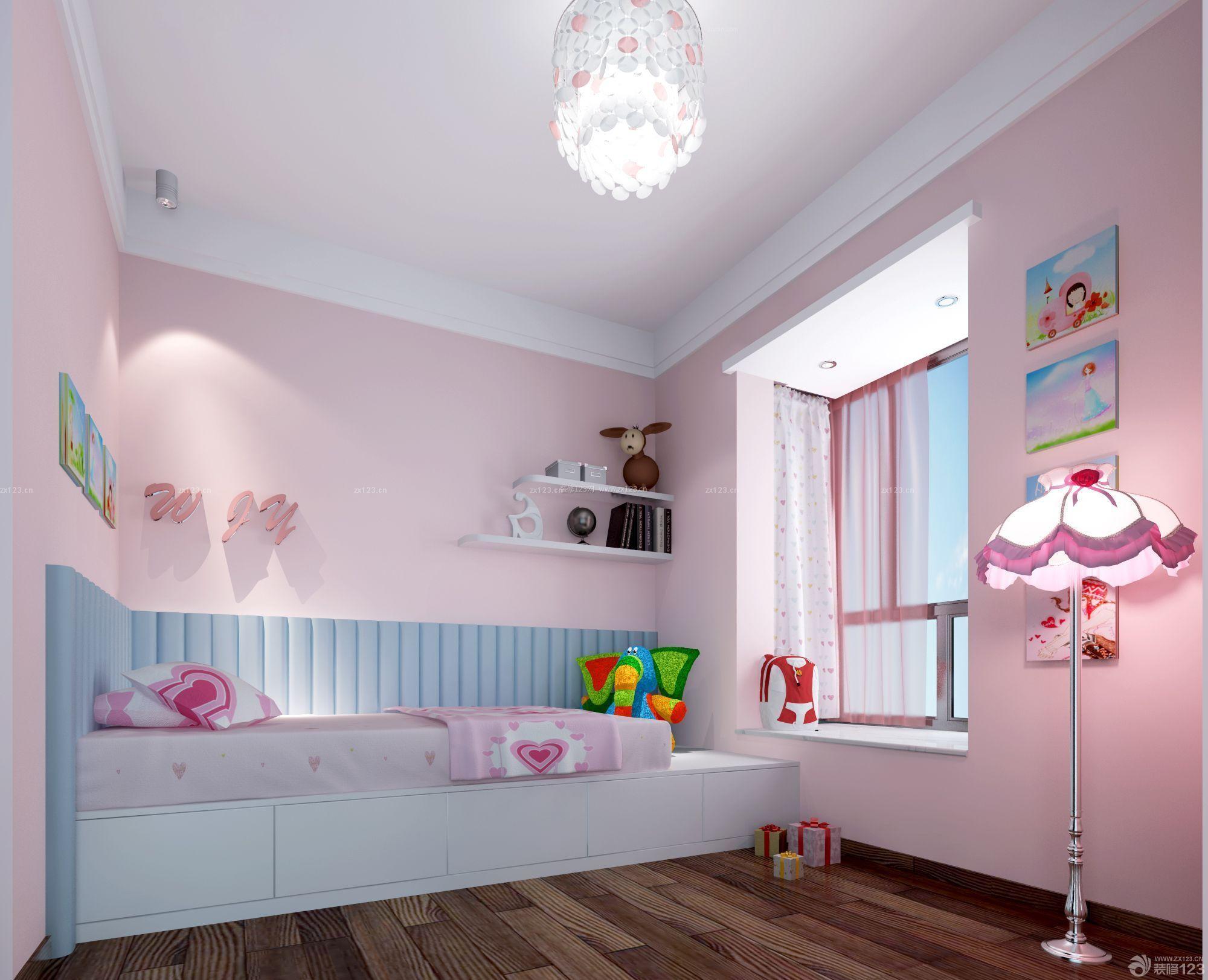 现代简约风格130平米房子儿童房装修效果图片