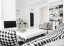 簡約黑白風格70平米復式樓裝修效果圖