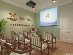 培訓公司80平米辦公室小型會議室裝修效果圖