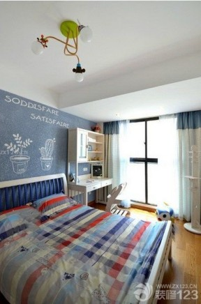 70平米復式樓裝修 男生臥室裝修效果圖片