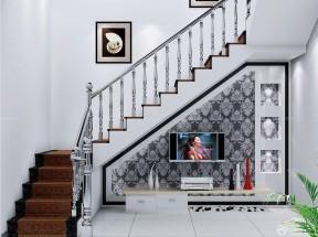 自建房樓梯設計效果圖 不銹鋼樓梯扶手圖片