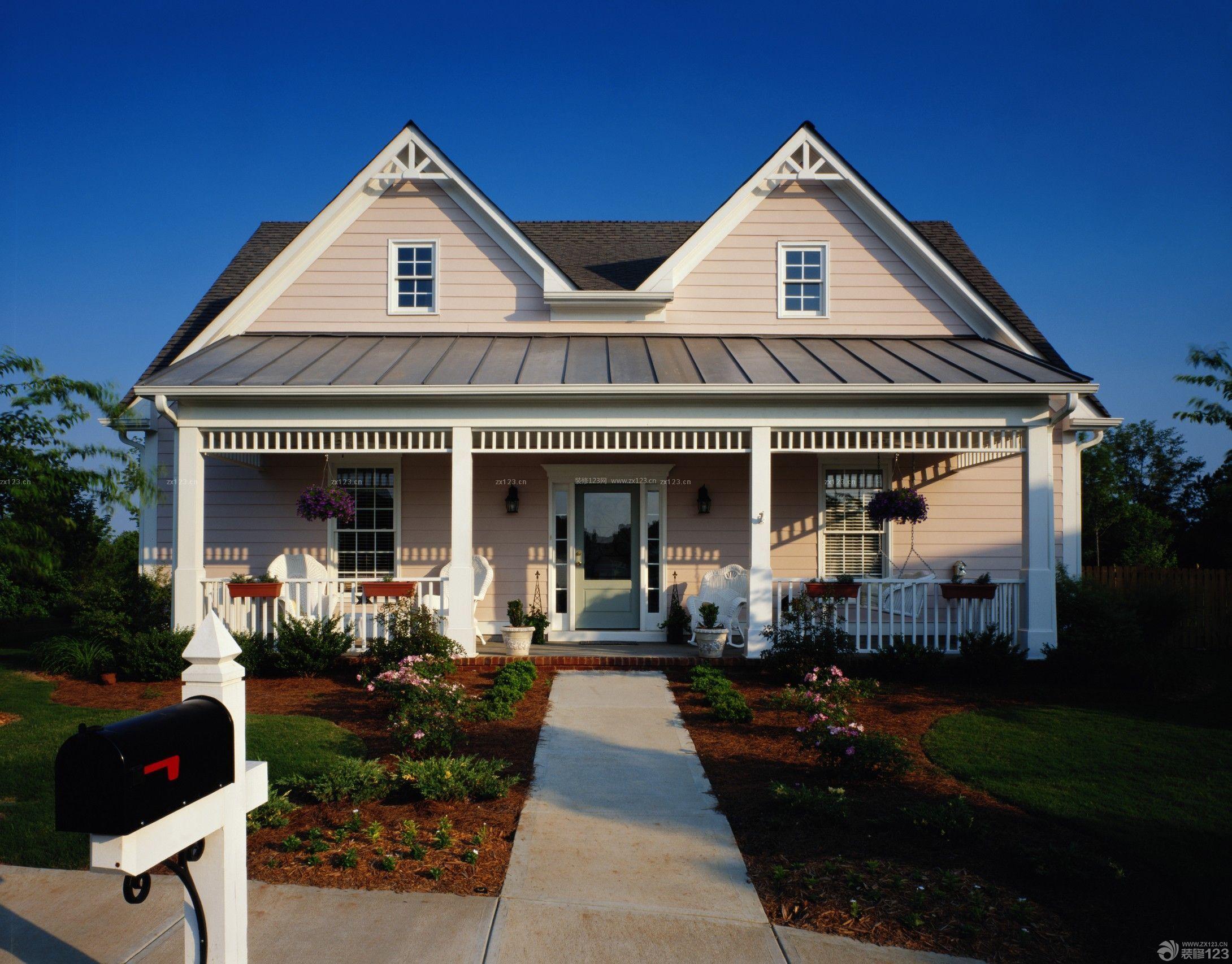 带阁楼新农村二层小别墅设计图纸带外观图