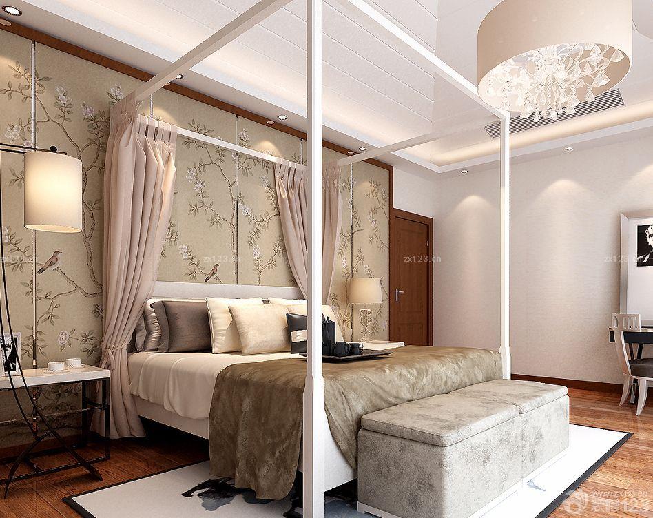 混搭风格卧室床头背景墙设计效果图