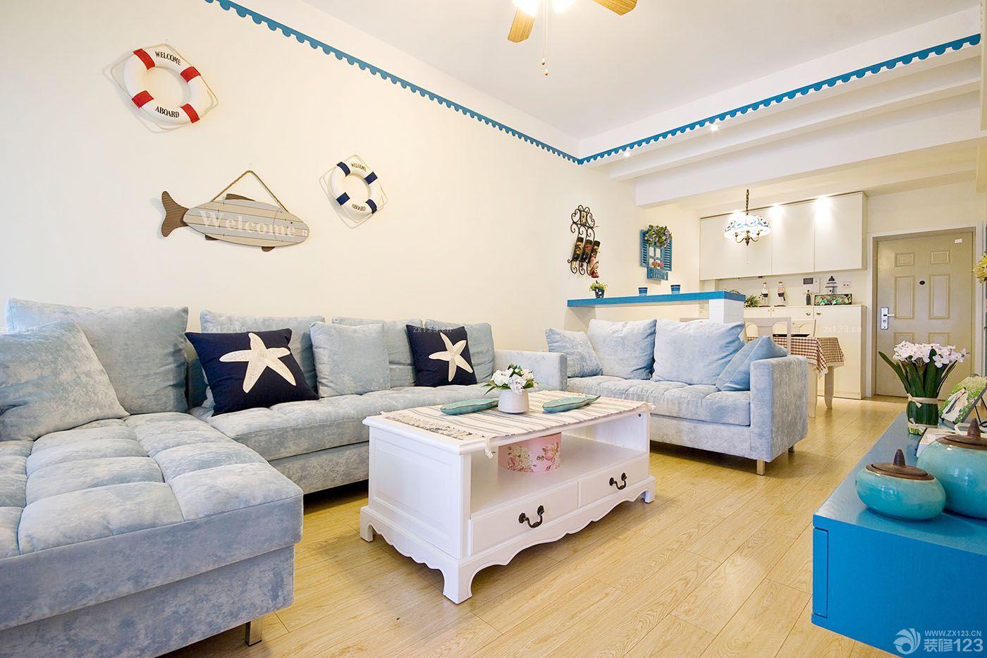 小户型客厅沙发靠背摆放实景图欣赏