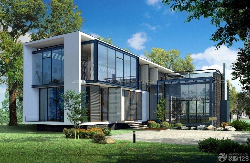 农村现代二层小别墅设计图片