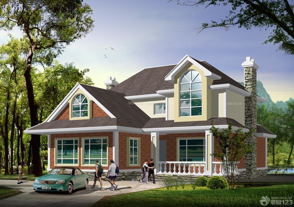 农村二层小别墅大门设计效果图