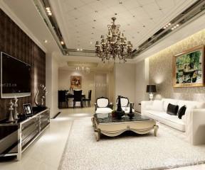 90平米客廳裝修效果圖 簡歐式風格