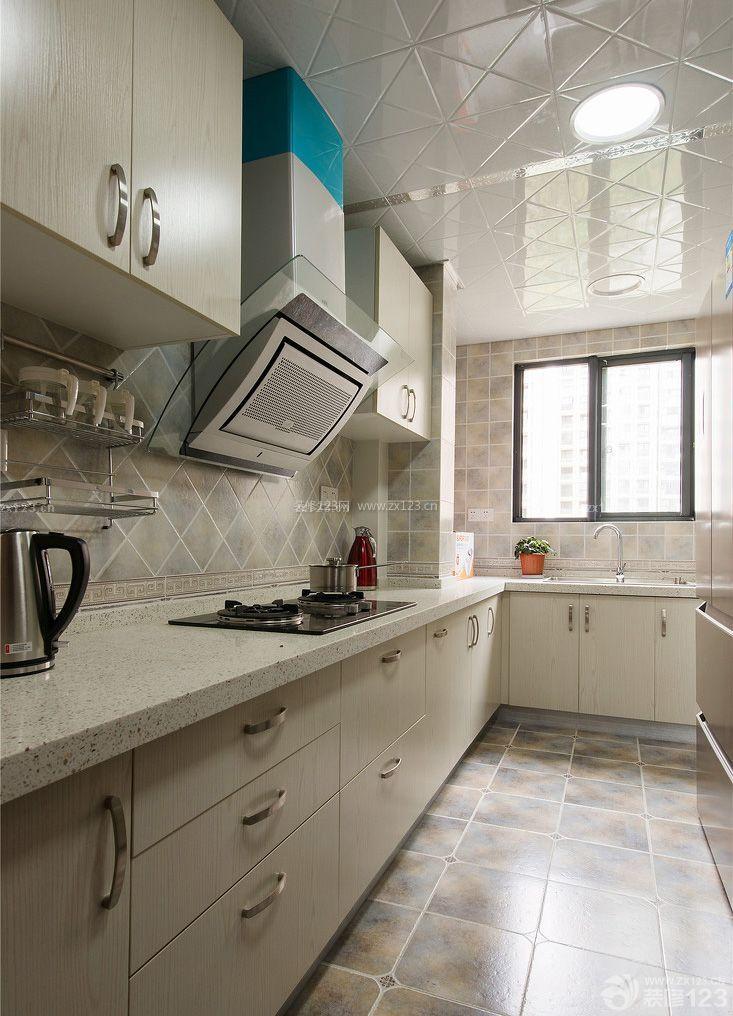 90平米小户型厨房地面瓷砖装修效果图大全