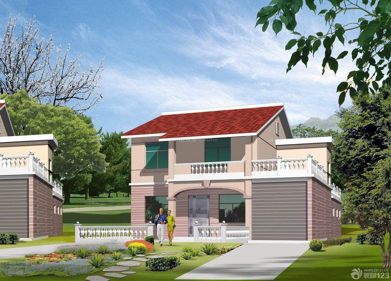 经典独栋120平方二层小别墅设计效果图