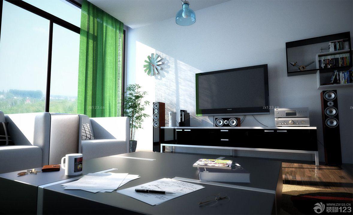 黑白简约房子装修效果图120平