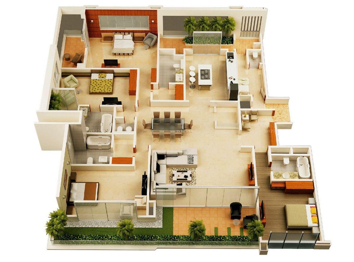 120平方花园洋房别墅户型设计图