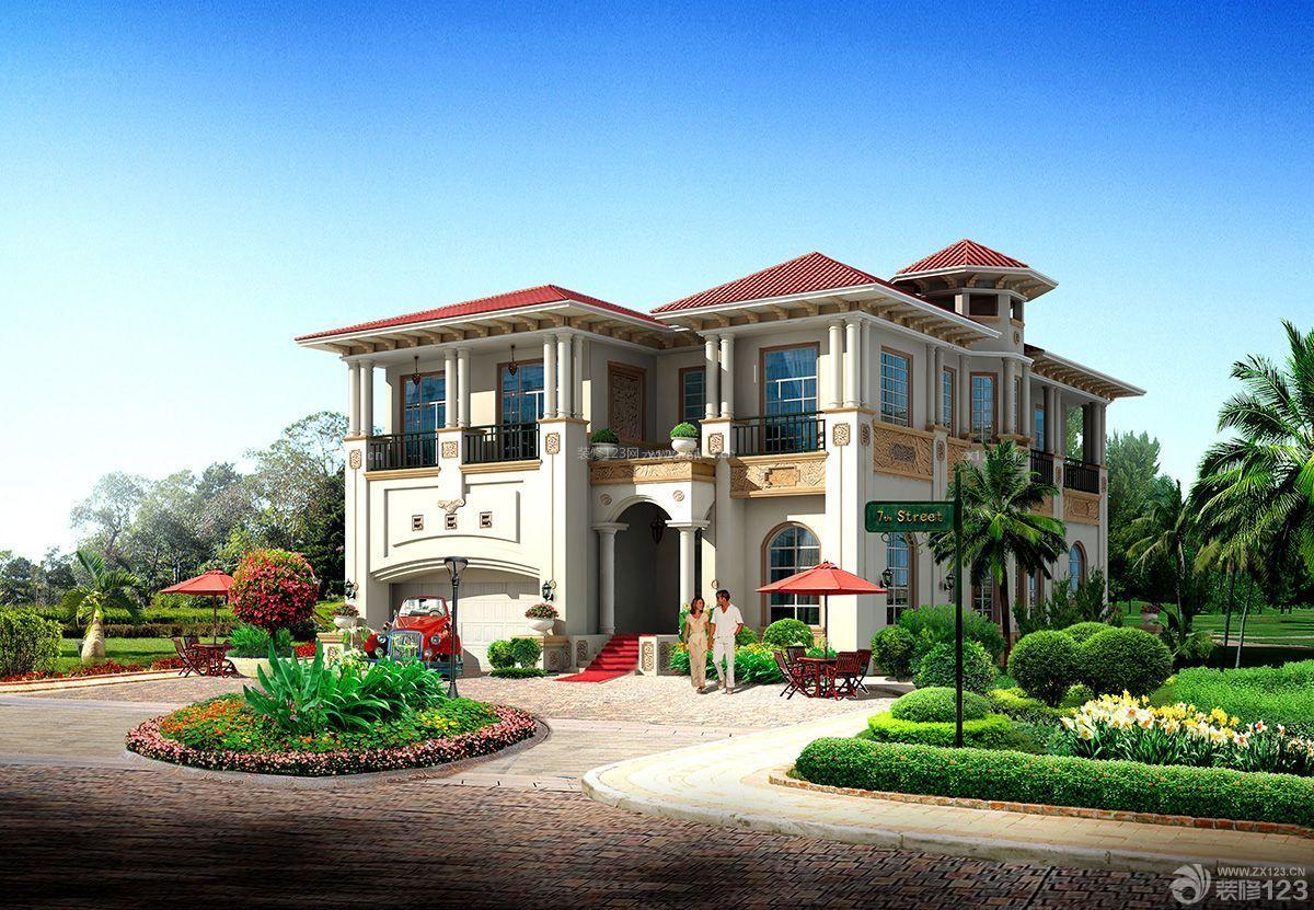 最新农村120平方二层别墅外观设计图图片
