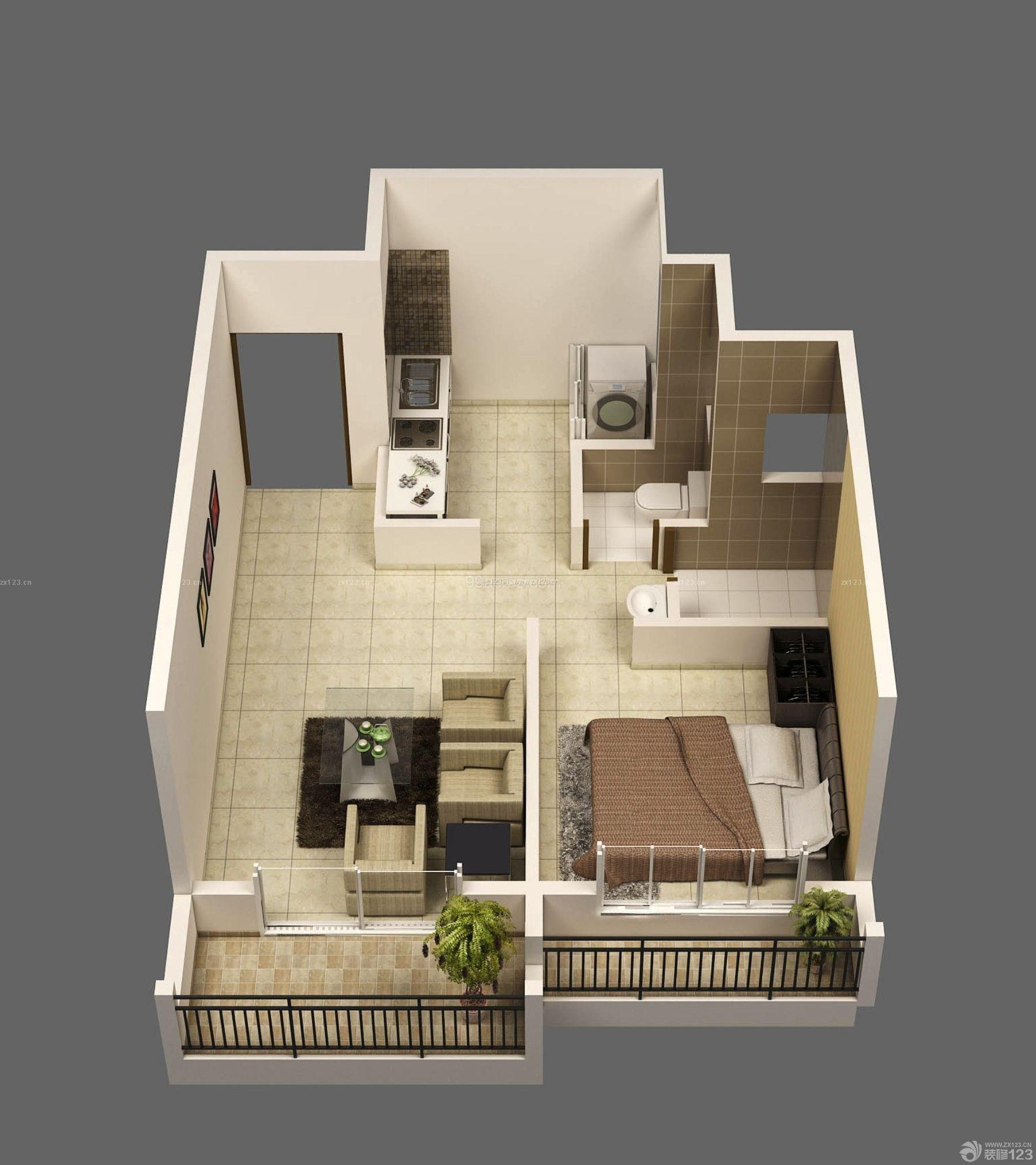 最新独栋120平方别墅外观设计图
