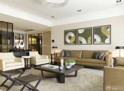 現代裝修樣板房客廳沙發背景墻裝修效果圖片