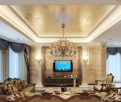 新房裝修歐式風格電視背景墻設計效果圖