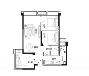 100平方別墅戶型圖 100平米三室兩廳裝修圖片