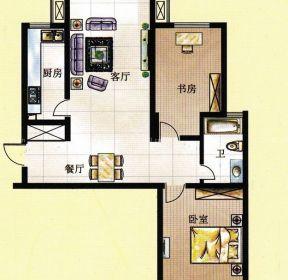 最新100平方一室兩廳別墅戶型圖-每日推薦