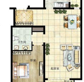 100平一室兩廳方別墅戶型圖-每日推薦