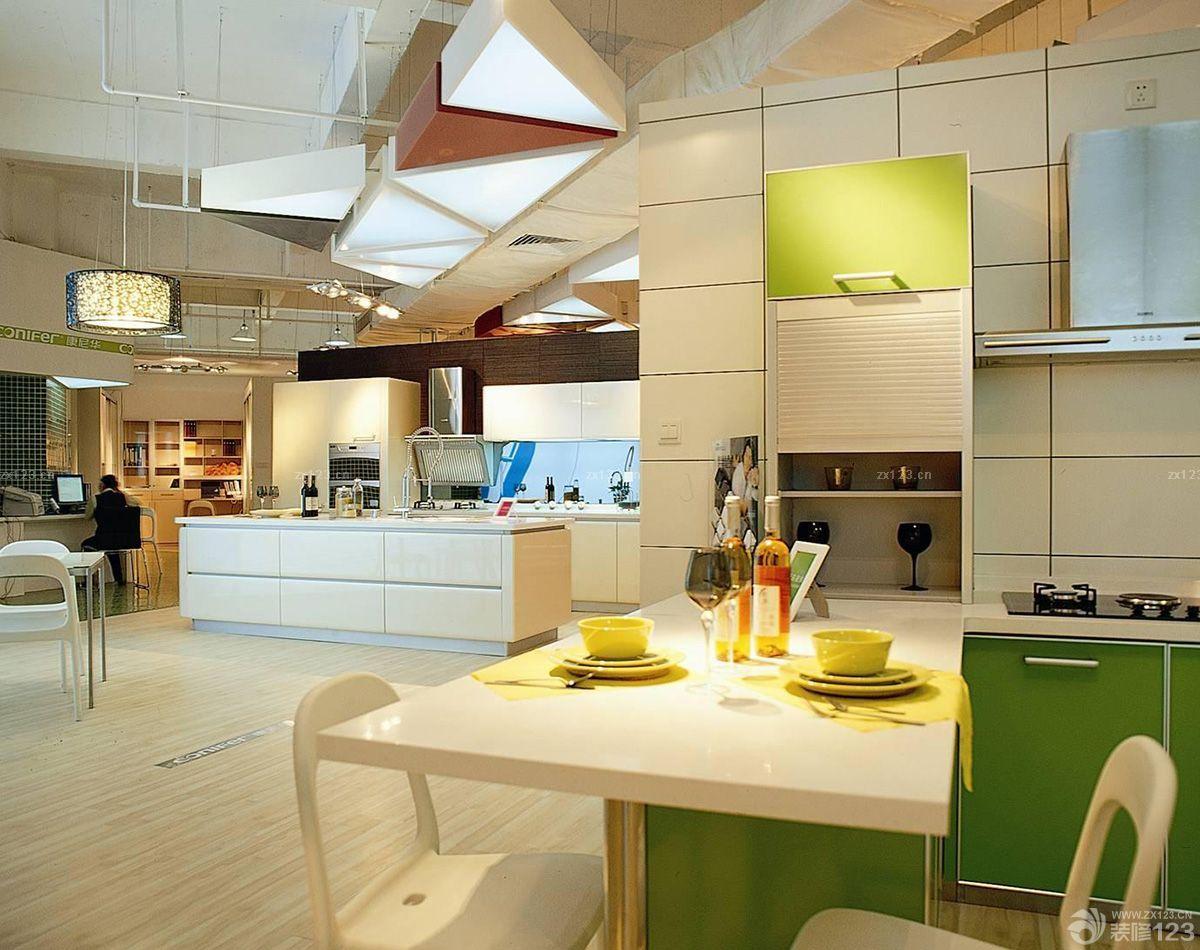 商场厨房整体橱柜陈列设计效果图