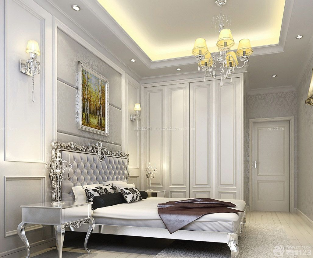 两室两厅90平米简欧风格装修效果图图片