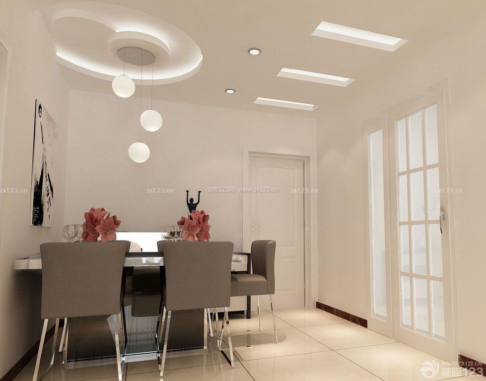 70平米带阁楼小户型餐厅圆形吊顶装修效果图片