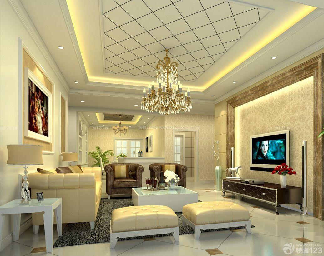90平米简欧风格小户型室内装修图片图片