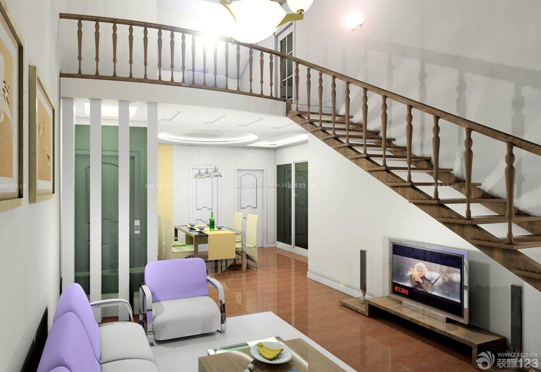 70平米带阁楼小户型房屋楼梯装修设计效果图