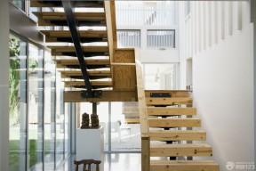 70平米小復式裝修 木樓梯裝修效果圖片